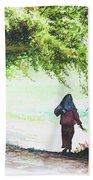 Myanmar Custom_06 Beach Towel