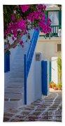 Mykonos Staircase Beach Towel