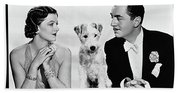 Myrna Loy Asta William Powell Publicity Photo The Thin Man 1936 Beach Towel