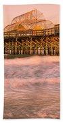 Myrtle Beach Apache Pier At Sunset Panorama Beach Towel