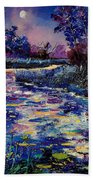 Mysterious Blue Pond Beach Towel