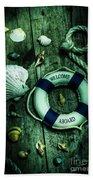 Mystery Aboard The Sunken Cruise Line Beach Towel