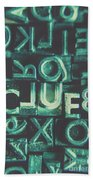 Mystery Writer Clue Beach Towel
