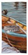 Mystic Fishing Boat Beach Towel