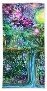 Mystic Waterfall Beach Towel