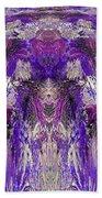 Mystic Waterfall - Purple Hues Beach Towel