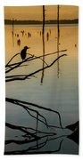 Mystical Sunrise On The Lake Beach Towel