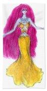 Mzia Meisouri. Beauty Girl From Space Beach Towel