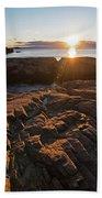 Nahant Ma Castle Rock Carved Rock Beach Towel