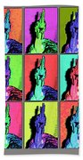 Naked Neck Rooster Warhol Style Beach Towel