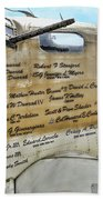 Names On B-17 Beach Towel