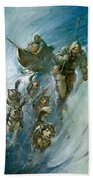 Nansen Conqueror Of The Arctic Ice Beach Towel by James Edwin McConnell