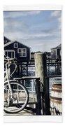 Nantucket Bikes 1 Beach Towel by Tammy Wetzel