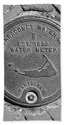 Nantucket Water Meter Cover Beach Towel