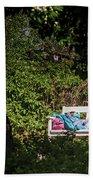 Nap On A Park Bench Beach Sheet