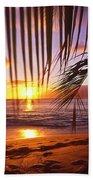 Napili Bay Sunset Maui Hawaii Beach Towel