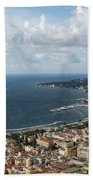 Naples Italy Aerial Perspective - Coastal Beauty Of Mergellina, Posillipo And Marechiaro Beach Towel