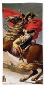 Napoleon Crossing The Alps Beach Towel by Jacques Louis David