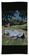 Napping Horse Beach Towel