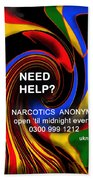 Narcotics Anonymous Poster Beach Towel