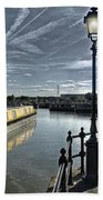 Narrowboat Idly Dan At Barton Marina On Beach Towel