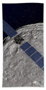 Nasas Dawn Spacecraft Orbiting Beach Towel