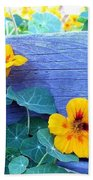 Nasturtium Box Beach Towel