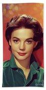 Natalie Wood, Vintage Actress Beach Towel