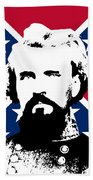 Nathan Bedford Forrest And The Rebel Flag Beach Towel by War Is Hell Store