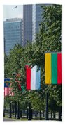 National Flags Of Various Countries Beach Towel