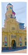 National History Museum On Plaza De Armas In Santiago-chile Beach Towel