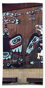 Native Alaskan Mural Beach Towel