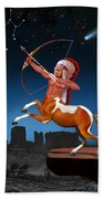 Native American Sagittarius Beach Towel