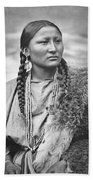 Native American Woman War Chief Pretty Nose Beach Towel