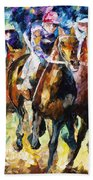 Native Raiser - Palette Knife Oil Painting On Canvas By Leonid Afremov Beach Towel