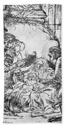 Nativity Beach Towel by Rembrandt