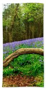 Natural Arch And Bluebells Beach Towel