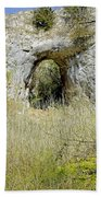 Natural Limestone Arch At Dove Valley Beach Towel