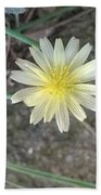 Natural... White And Yellow Flower Beach Towel