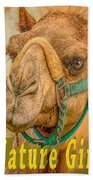 Nature Girl Camel Beach Towel