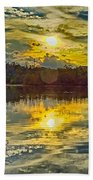 Nature Landscapes Around Lake Wylie South Carolina Beach Towel