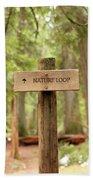 Nature Loop Sign Beach Towel