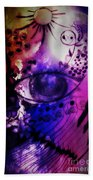 Nature N Music Abstract Beach Towel