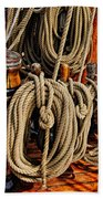 Nautical Knots 17 Oil Beach Towel