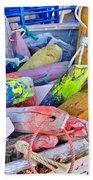 Nautical Riot Of Color Beach Towel