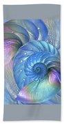 Nautilus Shells Blue And Purple Beach Towel