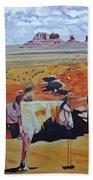 Navajo Ponies Beach Towel