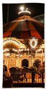 Navy Pier Merry-go-round Chicago Il Beach Towel