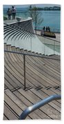 Navy Pier Stairs Beach Towel