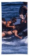 Navy Seals Practice High Speed Boat Beach Sheet